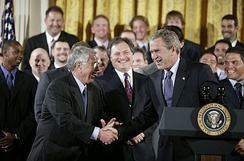 Jack McKeon and George W. Bush