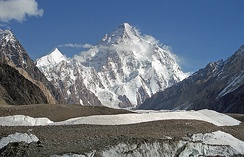 K2, at 8,619 metres (28,251 ft), is the world's second highest peak