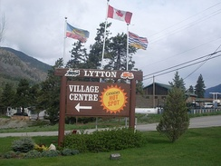 Lytton's welcome sign