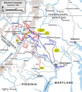 Maryland Campaign, actions September 3 to 15, 1862   Confederate   Union