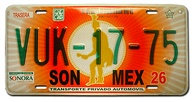 Mexico – Sonora registration plate