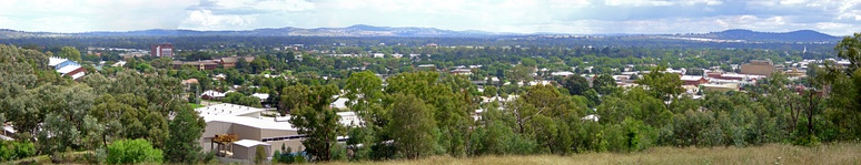 Wagga Wagga, looking northwest from Willans Hill
