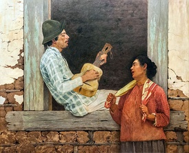 Violeiro playing, by Almeida Júnior