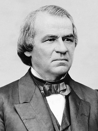 Conflict over Reconstruction broke the fragile relationship between Grant and President Andrew Johnson (pictured).