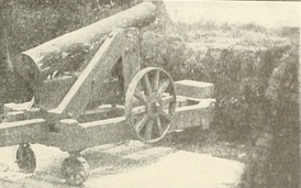 Quaker guns made of pine logs were mounted in a ruse to fool the Union into believing that the Confederates were much better armed at the Siege of Port Hudson, Louisiana in 1863. Black rings were painted on the end of the logs to make the muzzles look convincing. It worked. After Admiral Farragut's two vessels passed by Port Hudson, the Union chose to never attack from the river again.