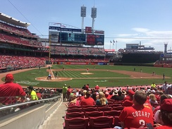 Great American Ball Park on May 23, 2016 for the Reds vs. Seattle Mariners
