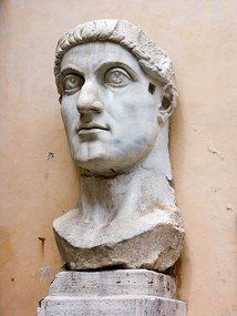 Constantine the Great was the first Roman emperor to convert to Christianity and moved the seat of the empire to Byzantium, renamed Constantinople in his honour.