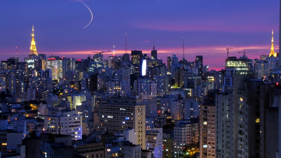 São Paulo, the largest city in Brazil, the largest city proper in the Southern Hemisphere, in the Americas, and the world's ninth-largest urban area by population.[15]