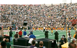 Photo of the Green Bay vs. Denver preseason game at Camp Randall Stadium on August 23, 1999