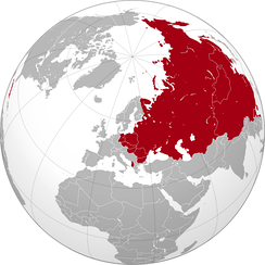 Greatest extent of Soviet influence, before the Sino-Soviet split and after the Tito-Stalin split and Cuban Revolution