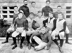 The Stanford team of 1892, that would play the first Big Game ever