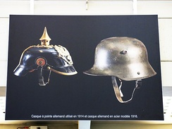 German helmets went from leather to steel