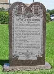 "The Ten Commandments on a monument on the grounds of the Texas State Capitol which includes: ""Remember the Sabbath day, to keep it holy""."