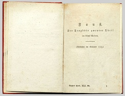 Faust II, first edition, 1832