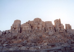Nemrut Dağı, Statues at East Terrace