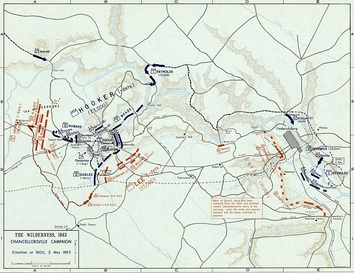 Battle of Chancellorsville, 2 May 1863 (Situation at 1800)