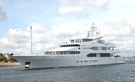 A motor yacht in Lorient, Bretagne, France