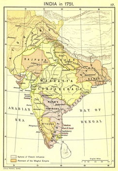 India at the height of French Influence (1751)