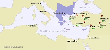 The Byzantine empire had lost control over most of Anatolia in the decade following the disastrous Battle of Manzikert.