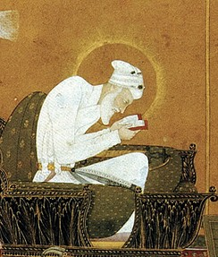 Emperor Aurangzeb, the author of Fatawa 'Alamgiri, reading Quran.