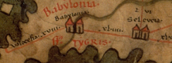 Seleucia in the 4th century on the Peutinger Map.