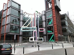 The Big 4 sculpture outside the Channel 4 building in London in January 2016