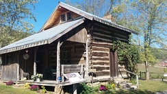 Birthplace log cabin of A.P. Carter at the Carter Fold at Maces Springs, Virginia now Hiltons, Virginia