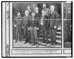 With Booker Washington and other dignitaries