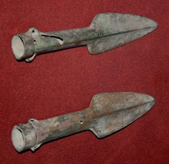 Shang Dynasty spear heads