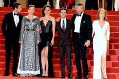 Dolan with the cast of It's Only the End of the World at the 2016 Cannes Film Festival