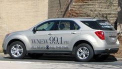 A WNEW Chevrolet Equinox news vehicle