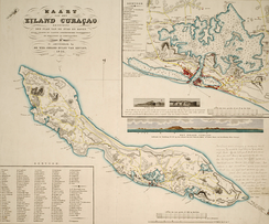 Map of Curaçao in 1836