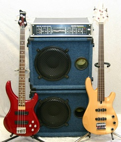 Bass-stack amp and speaker configuration