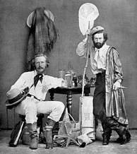 Haeckel (left) with Nicholai Miklukho-Maklai, his assistant, in the Canaries, 1866