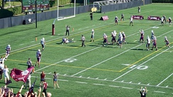 Fordham football in The Liberty Cup against Columbia at Jack Coffey Field, 2015