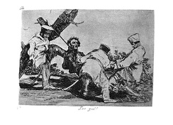 Goya's The Disasters of War, showing French atrocities against Spanish civilians