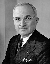 Harry S. Truman, 33rd President of the United States, was known to have poor vision.
