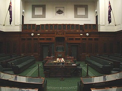 The House of Representatives chamber at Old Parliament House, Canberra, where the Parliament met between 1927 and 1988