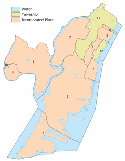 Hudson County municipalities index map