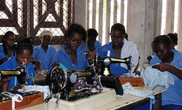 Young women learning to sew, Brazzaville