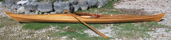 Wood strip-built Kayak