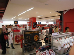 Manchester United's megastore is located on the East Stand of Old Trafford