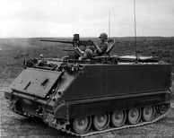 An ARVN M113 without ACAV set during the Vietnam War.