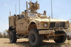 M153 Common Remotely Operated Weapon Station (CROWS) mounted on a U.S. Army M-ATV