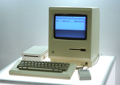 The Macintosh, released in 1984, is the first mass-market personal computer to feature an integral graphical user interface and mouse.