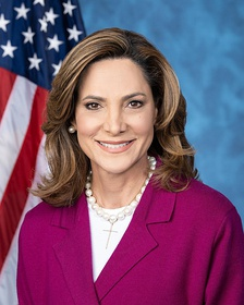 Maria Salazar, a journalist, broadcast television anchor and Republican House Member from Florida. She is of Cuban heritage.