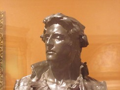 Nathan Hale as depicted in bronze (1890) by Frederick William MacMonnies at the Brooklyn Museum