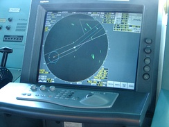 Radar ranges and bearings can be used to determine a position.