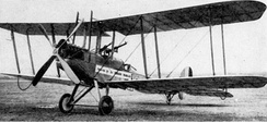 A Royal Aircraft Factory B.E.2c, much like what No. 17 Squadron operated from 1915 to 1918.