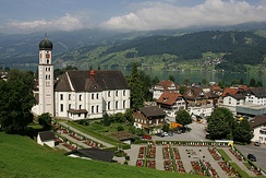 St. Theodul Catholic Church in Sachseln. The majority of the residents of Obwalden are Roman Catholic.